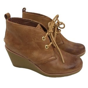 Sperry Top Sider Harlow Burnished Wedge Bootie 5.5